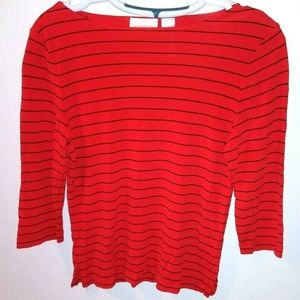 Liz Claiborne striped top Rayon polyester
